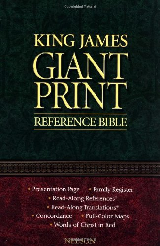KJV, Reference Bible, Giant Print, Imitation Leather, Burgundy