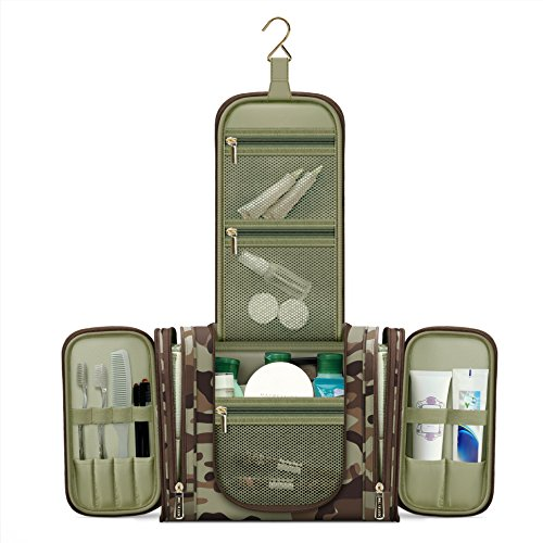 cae3ca9bde Water Resistant Hanging Travel Toiletry Kit with TSA Approved Clear ...