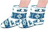 Jierku Comfy House Shoes Stylish House Slippers Ladies Bedroom Shoes Size9-11 Light Blue | amazon.com
