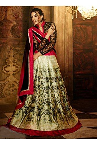 IWS Indian Women Designer Wedding Green Lehenga Choli R-16363