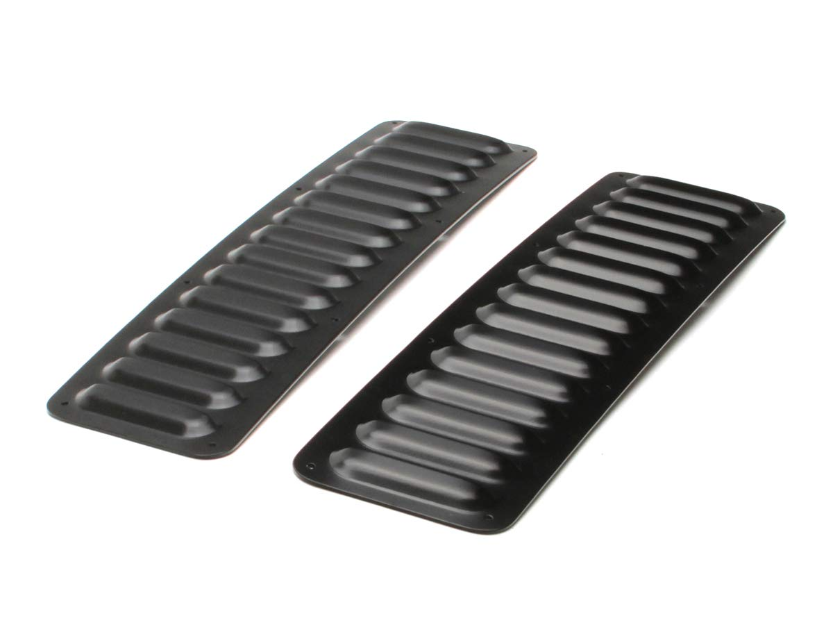 GenRight Off Road LVR-1006 Black 2 Piece Long Hood Louver Vent Set For Jeep Cherokee, Wrangler Fits All Vehicles Universal Fit by GenRight Off Road (Image #1)