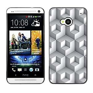 Stuss Case / Funda Carcasa protectora - White Colored Boxes - HTC One M7