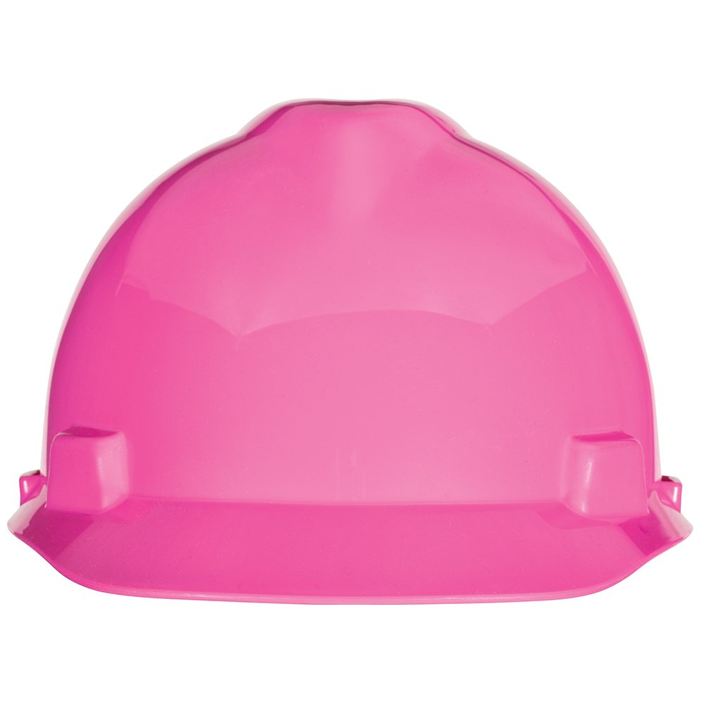 w//Fas-Trac III Suspension Standard MSA Safety 10155230 V-Gard Slotted Cap Hot Pink