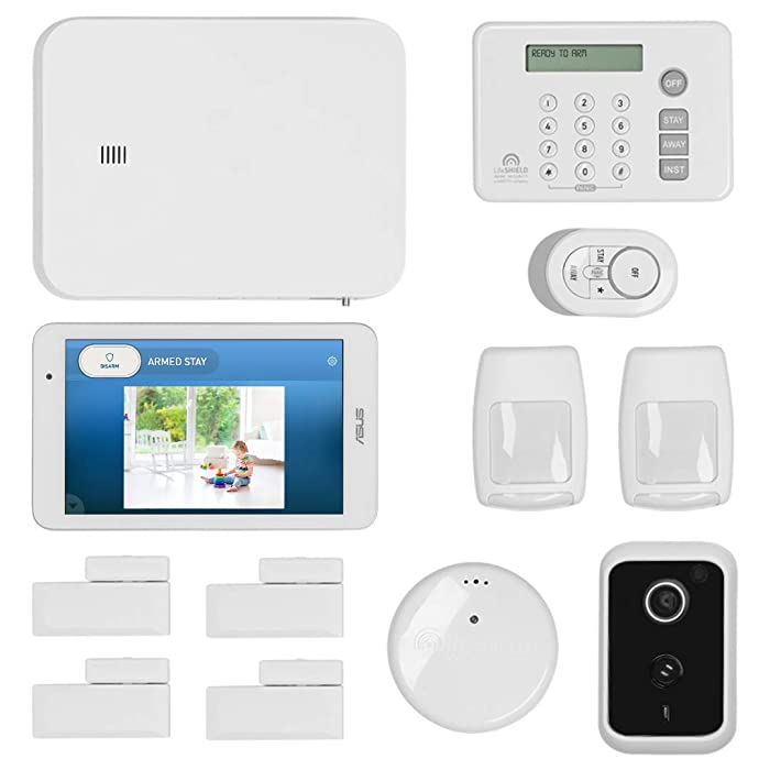 LifeShield, an ADT Company - 14-Piece Easy, DIY Smart Home Security System - Optional 24/7 Monitoring - Smart Camera - No Contract - Wi-Fi Enabled - Alexa Compatible