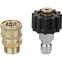 """3/8"""" Blitz Detailing M22 Adapter Quick Connect voor Karcher Kranzle Release Steel"""