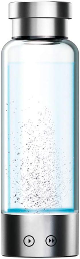 電解水素水マグ負イオン品質健康スマート充電ポータブル家庭用ガラスギフトやかんアルカリ酸素発生器350ml 量子カップ,Double
