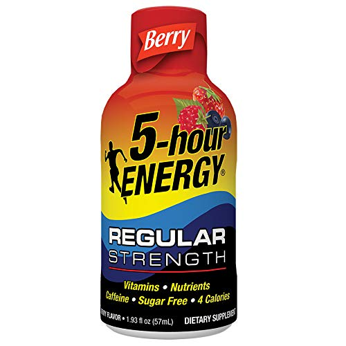 Regular Strength 5-hour ENERGY Shots – Berry – 24 Count