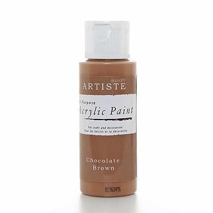 Pintura acrílica docrafts Artise, plástico, marrón Oscuro, 3.4 x 3.4 x 9.9 cm