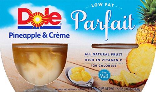 Dole Fruit Bowls Pineapple amp Creme Parfait 4 Cups Pack of 24