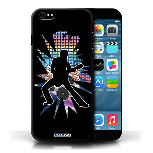 Etui / Coque pour Apple iPhone 6/6S / étendre Noir conception / Collection de Rock Star Pose