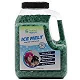 Natural Rapport Pet and Kid Friendly Ice Melt - Time Release Formula Lasts 3X Longer & Contains 25% More - Safer for Surfaces and Vegetation, Large 10 LB Jar