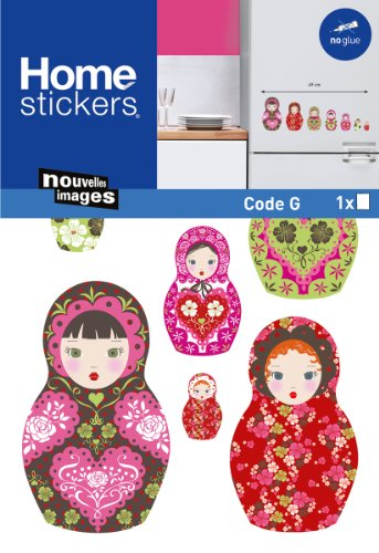 Nouvelles Images HOWI1929 Russian Dolls Window or Appliance Stickers, ()