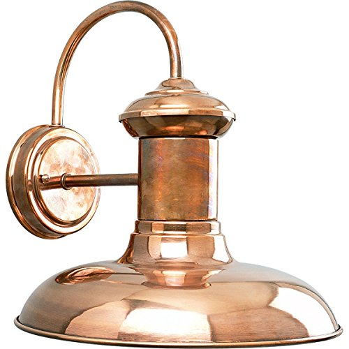 Progress Lighting P5723-14 1-Light Wall Lantern, Copper (Sconce Copper Outdoor)
