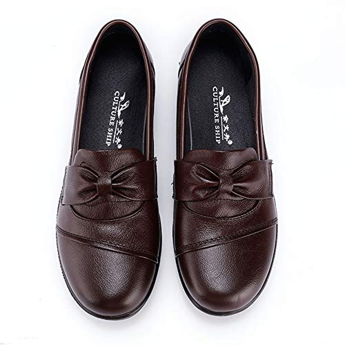 Chaussures De Sport Conduite Plates Bateau Travail Bureau Mocassins Brown Escarpins rhQdts