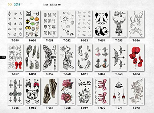 10 Sheets Women Men Temporary Tattoos Body Sticker - Waterproof Colorful Tattoos | Flowers | Animals | Butterfly | Removable, Made in USA
