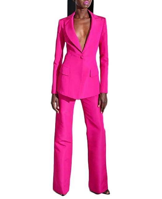 Amazon.com: Trajes de negocios para mujer con solapa de pico ...