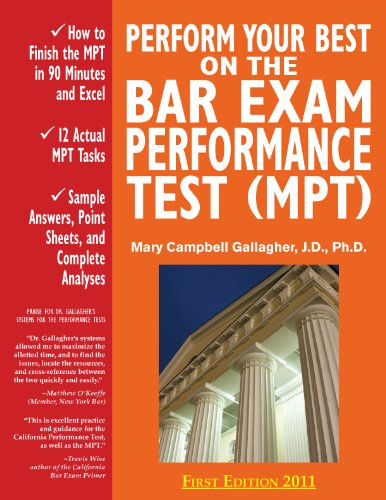 Perform Your Best on the Bar Exam Performance Test