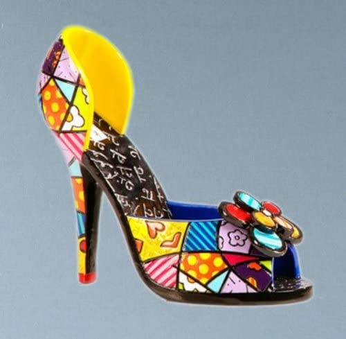 Romero Britto Stiletto Shoe Figurine by Giftcraft