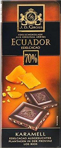 J D Gross Edel Bitter Chocolate Caramel Ecuador 70 4 X