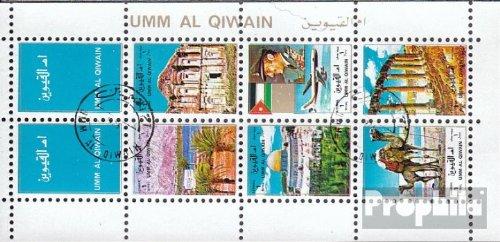 Umm al Qaiwain 1693A-1698A Sheetlet (complete.issue.) 1972 Landscapes in Arabia (Stamps for (1972 Landscapes)