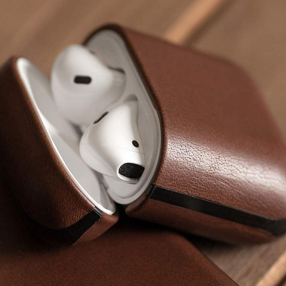 Brown Color : AirPods 2 Simple Leather Design AirPods 1//2 Generation Wireless Bluetooth Earphone Cover Wuhuizhenjingxiaobu Earphone Cover