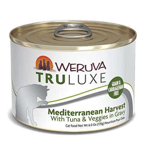 - Weruva Truluxe Cat Food, Mediterranean Harvest With Tuna Whole Meat & Veggies In Gravy, 6Oz (Pack Of 24)