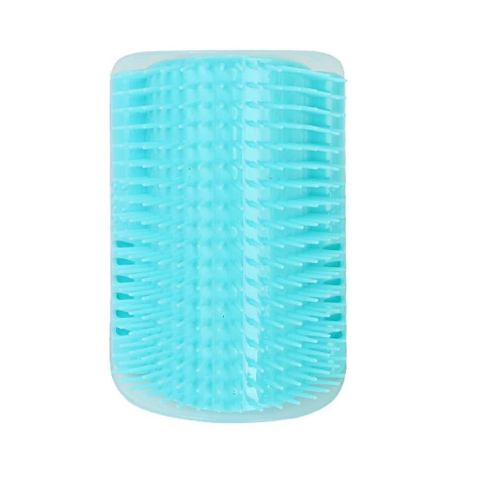 PET SPPTIES Brosse d'Angle de toilettage Massage pour Chat Groomer Brosse Peigne Chiens Chats Cheveux De Rembourrage PS021 (Grey)
