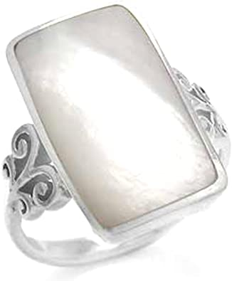Silvershake 5 Stones Inlay White Gold Plated 925 Sterling Silver Ring
