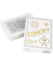 Ellusionist Cohort White Playing Card Deck - Ghost Edition - Classic 1930's Vintage Design - for Games & Magic Tricks
