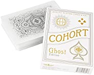 Ellusionist Cohort White Playing Card Deck - Ghost Edition - Classic 1930's Vintage Design - for Games &am