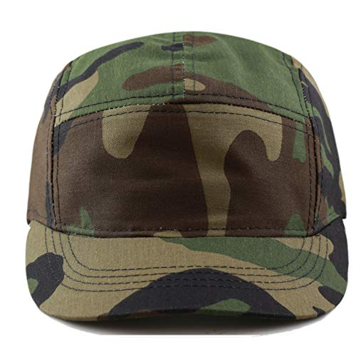 The Hat Depot Exclusive Made in USA Cotton 5 Panel Unstructured Outdoor Cap (Camo1) ()