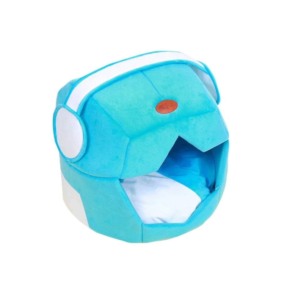 Warm Pet Nest Creative Space Space Space cap Dog Letti Teddy Kennel Fluff Morbido Lavabile Piccolo Cane Medio (colore   Blu, Dimensione   M) b25528