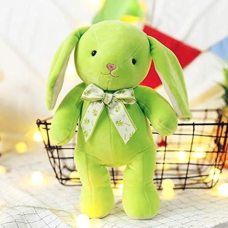prbll Muñecas de Orejas caídas Conejos, Juguetes de Felpa, muñecas de Conejo, muñecas, Regalo de San Valentín cumpleaños enviando Novias 40 cm Verde