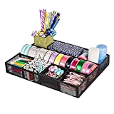 DESIGNA Mesh Desk Supplies Organizer, Desk Drawer Organizer (Size: 15'' x 12'' x 2.3'')