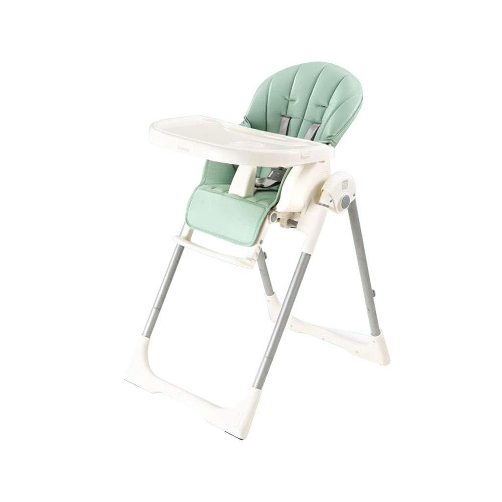 折り畳み式の車輪が付いている赤ん坊のハイチェア調節可能な供給の食事の椅子   B07MPRK8RY