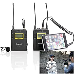 saramonic uwmic9 rx tx wireless lavalier microphone system for ios smartphone iphone. Black Bedroom Furniture Sets. Home Design Ideas