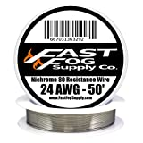 Fast Fog 50 ft - 24 Gauge AWG Nichrome 80 Resistance Wire 50' Length