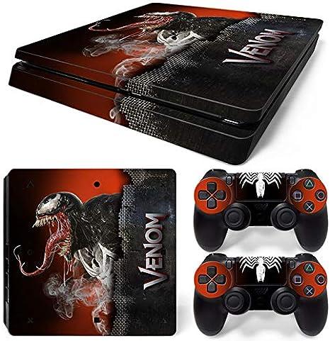 46 North Design Ps4 Slim Playstation 4 Slim Pegatinas De La Consola Venom + 2 Pegatinas Del Controlador: Amazon.es: Videojuegos