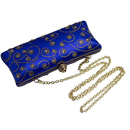Crystal DMIX Bag Evening and Blue Box Clutch vqqUwpgB