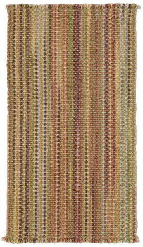 Capel Rugs Polyester Rug - Capel Rugs Nags Head Vertical Stripe Rectangle Flat Woven Area Rug, 3 x 5, Multicolor