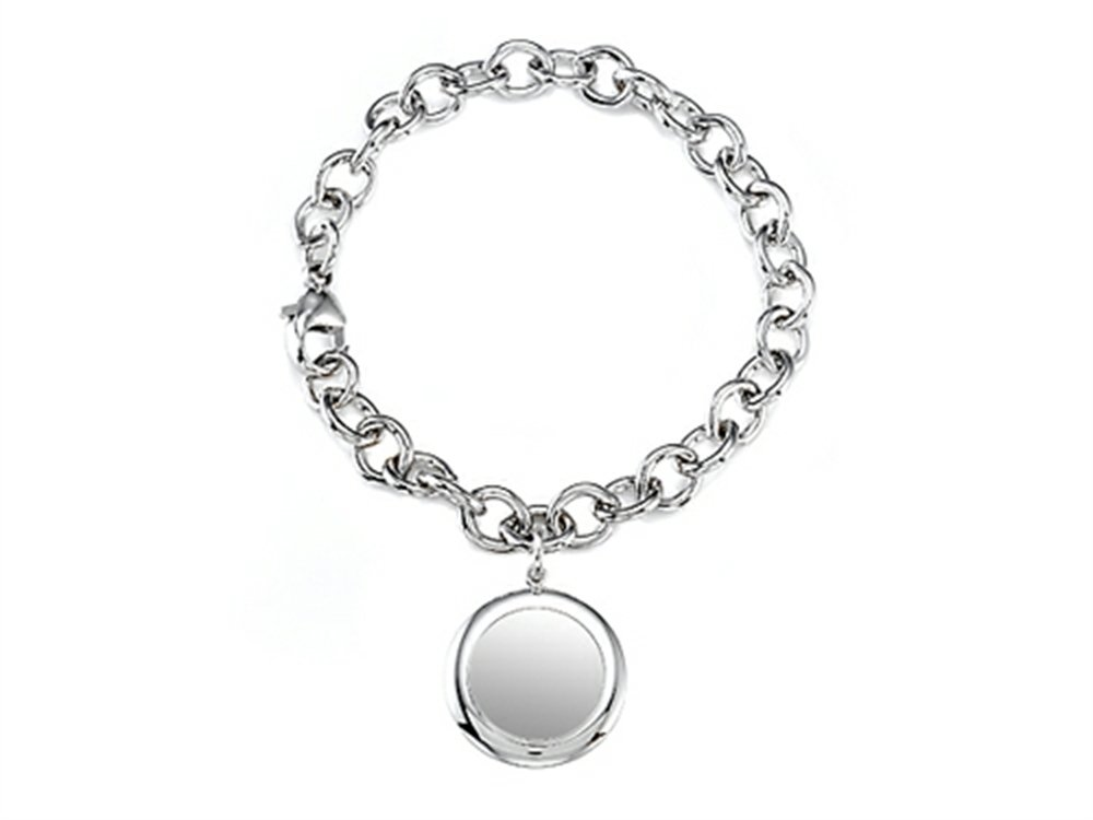 Finejewelers Sterling Silver 8 inches Round Charm Bracelet