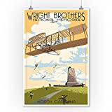 Wright Brothers National Memorial - Outer Banks, North Carolina (9x12 Collectible Art Print, Wall Decor Travel Poster)