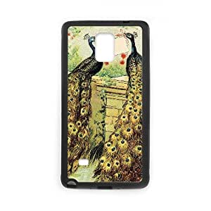 Vintage Collage Peacock Samsung Galaxy Note 4 Cell Phone Case Black