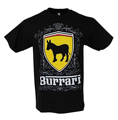 Burrari Ferrari Parody Men's Funny T Shirt Large - Ferrari Flat Black
