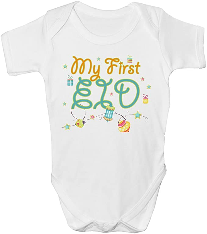 My First Eid Boys Girls Baby Grow Bodysuit Vest