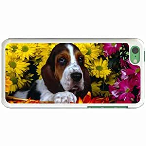 Custom Fashion Design iPhone 5C Back Cover Case Personalized Customized Diy Gifts In Hushpuppy White