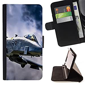 King Air - Premium PU Leather Wallet Case with Card Slots, Cash Compartment and Detachable Wrist Strap FOR HTC Desire D816 816 d816t- US Air Force aircraft