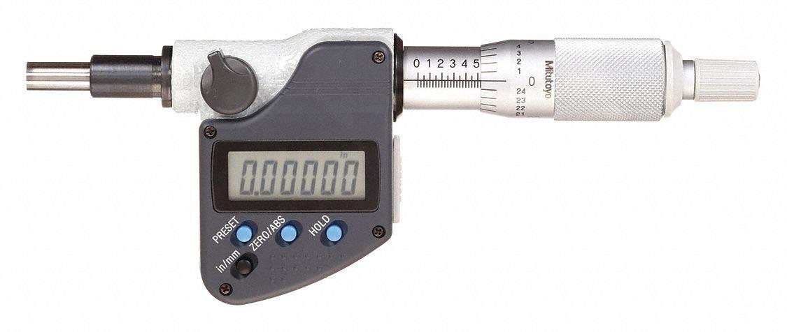 0.00005//0.001 mm 3//8 Stem 1 0.00005//0.001 mm Mitutoyo 350-351-30 MHN1-1MX Micrometer Head 1 3//8 Stem