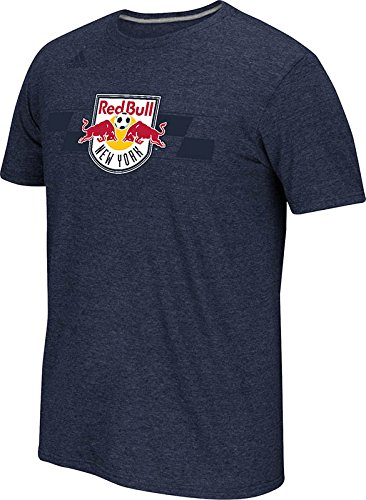 Mens Navy Blue Bull (MLS New York Red Bulls Men's Band of Brothers Performance Short Sleeve Tee, Heathered Navy,)