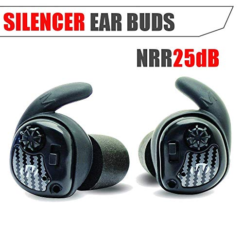 - Walker's Silencer Digital Earbuds, Sound Activated Compression, NRR25dB, Dynamic Wind Reduction